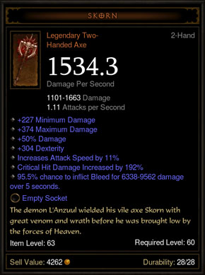 Diablo 3 New Legendary Items